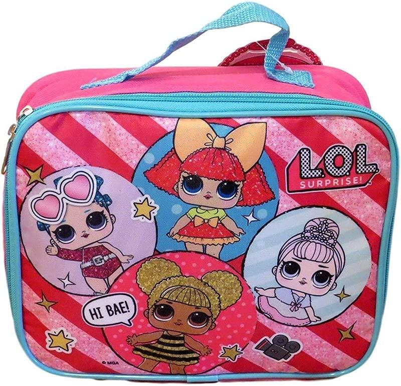 L O L Surprise Little Girls LOL School Insulated Lunch Bag Pink Cute Kids
