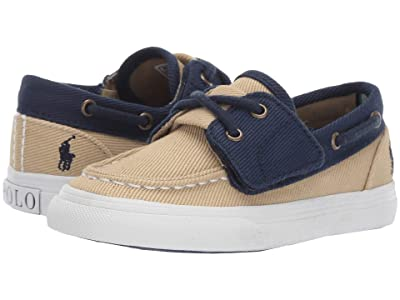 Polo Ralph Lauren Kids Bridgeport EZ (Toddler) (Khaki/Navy Heavy Twill/Navy Pony) Boy