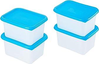AmazonBasics – Juego de 4recipientes para frigorífico, 4 x 0,75 l
