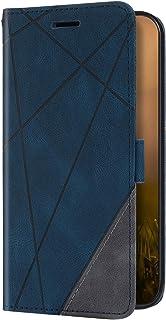 Uposao Beschermhoes compatibel met iPhone 7/8/SE 2020 case, portemonnee van leer, met standfunctie, kaartgleuf, magnetisc...
