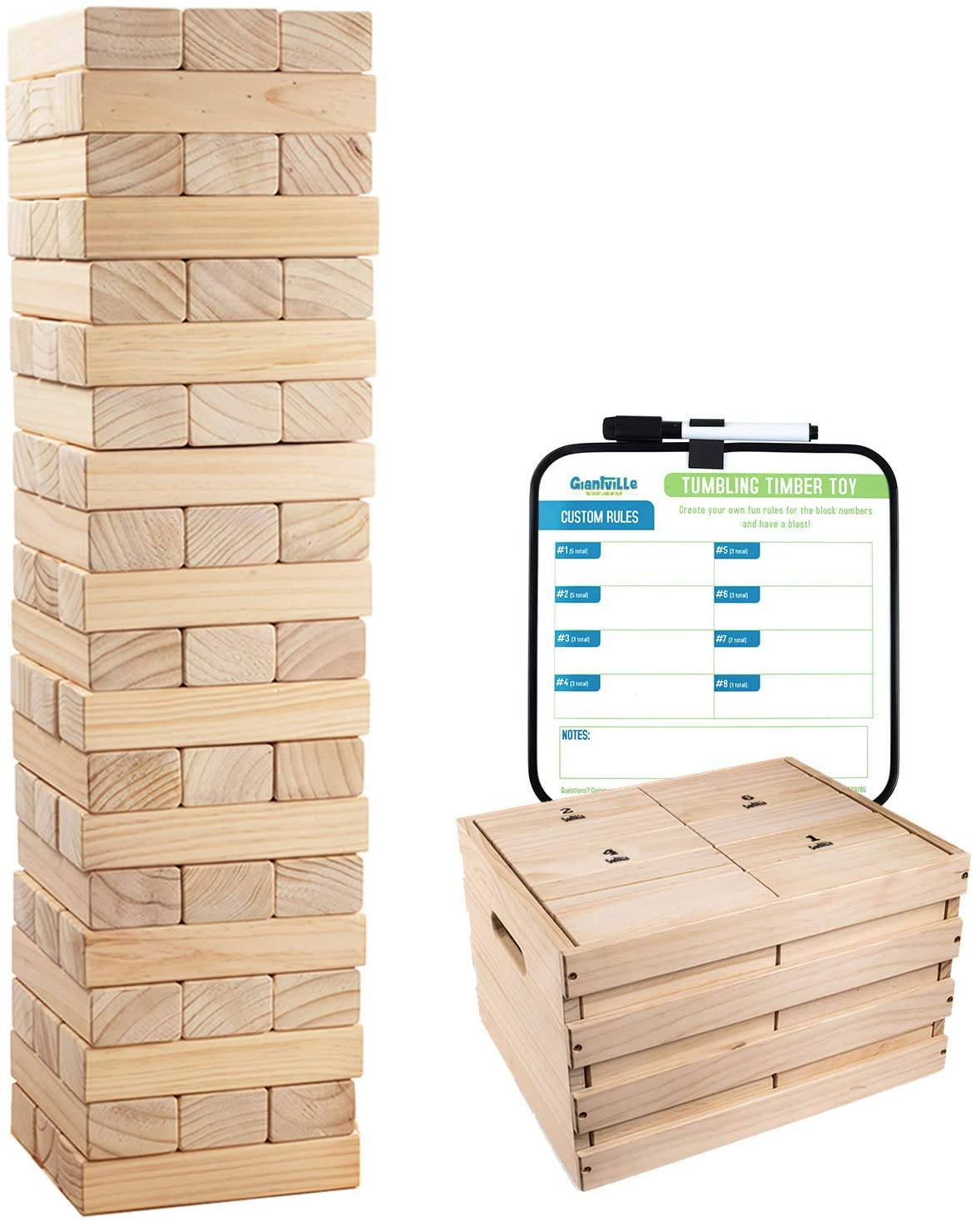 Max 71% OFF Giant Tumbling Timber Toy - 60 Max 53% OFF Game Wooden fo Floor Jumbo Blocks