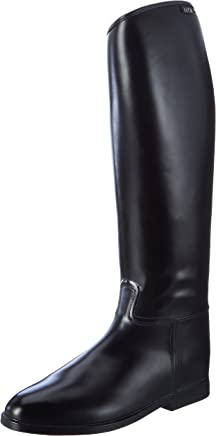 Hkm men�s riding boots, long and wide, size: m with elastic insert
