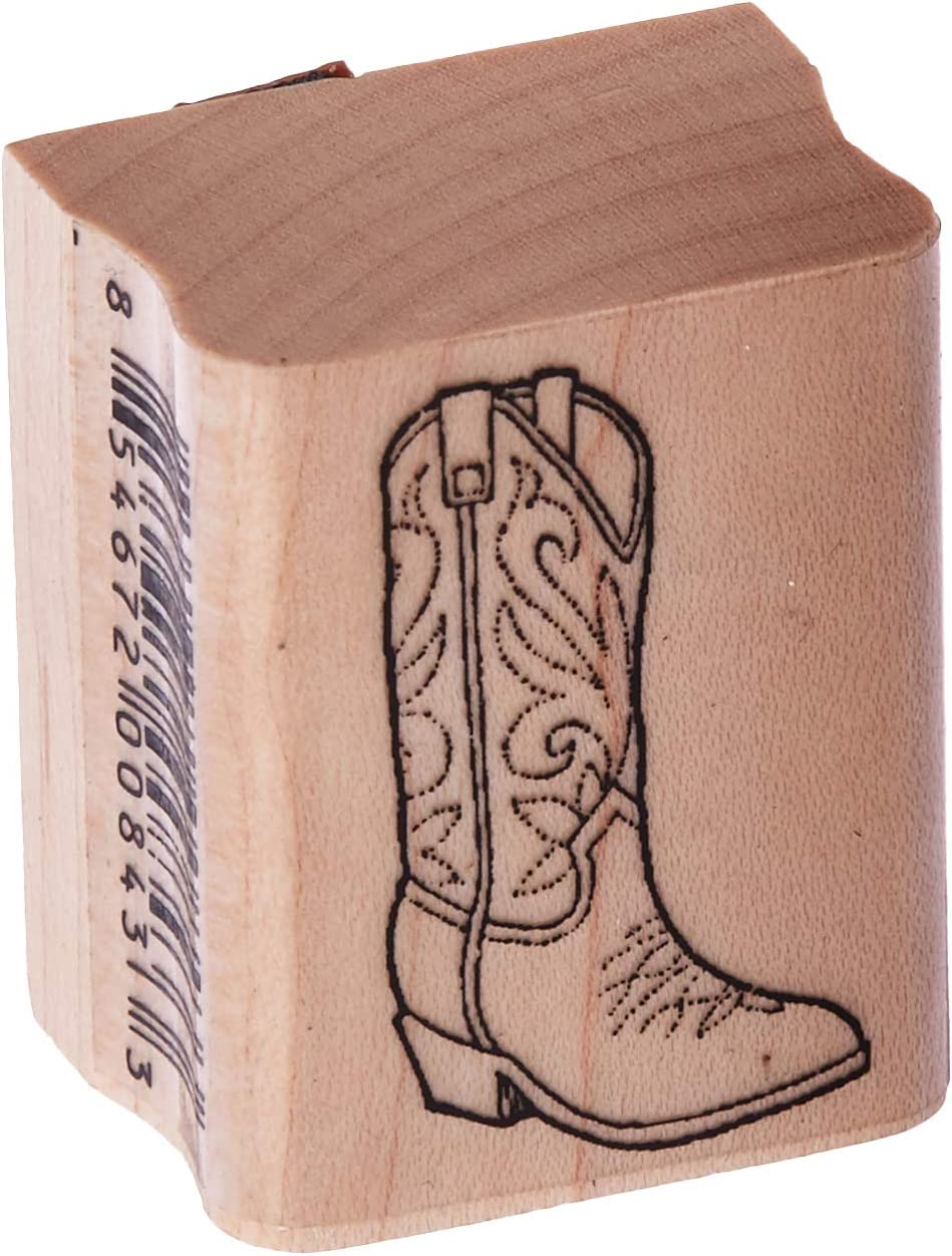 cowboy boot hand carved stamp