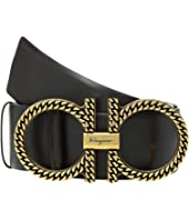 Salvatore Ferragamo - Adjustable Gancini Belt w/ Gold Hardware