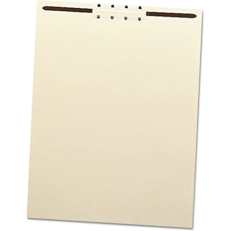 """Smead 35511 Recycled Letter Size Manila File Backs w/Prong Fasteners, 2"""" Capacity (Box of 100)"""