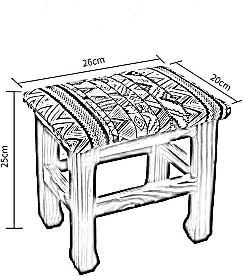 FEI Confortable Tabouret ménage salon tabouret en bois massif enfants L26 * W20 * H25 Solide et durable (Couleur : A) C