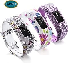Compatible with Garmin Vivofit JR Bands for Kids, Colorful Adjustable Silicone Replacement Bands Wristband Straps Bracelet for Vivofit JR/Vivofit jr2 / Vivofit3 (Gray White Purple)