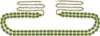 Green Kunudun Stud-Gold Platted Brass Waist Belt