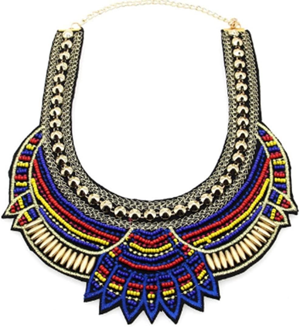 Collar necklacestatement necklacebobo necklace bohemian chic necklaceAfrican necklace