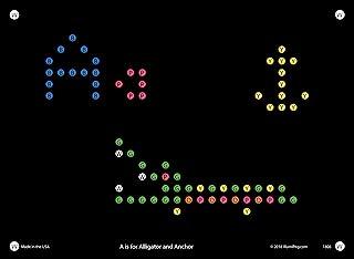 IllumiPeg Alphabet Refill templates for Basic Fun Lite Brite Magic Screen Retro Style (26 Sheets, 6x8))