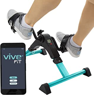 Vive Desk Bike Cycle - Foot Pedal Exerciser - Foldable Portable Foot, Hand, Arm, Leg Exercise Pedaling Machine - Folding Mini Stationary Bike Pedaler, Fitness Rehab Gym Equipment