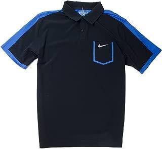 Nike Golf Dri-fit Tour Performance Polo Shirt (Black/blue, M)