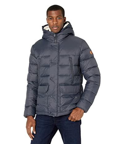Save the Duck Giga Hooded Sherpa Lined Parka (Grey/Black) Men