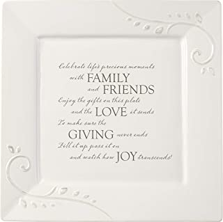 Precious Moments Giving Plate Ceramic 189002 Serving Platter, 10in x 10in, White