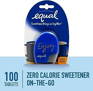 EQUAL 0 Calorie Sweetener Tablets, Sugar Substitute, Zero Calorie Sugar Free Sweetener Tablets, 100-Count