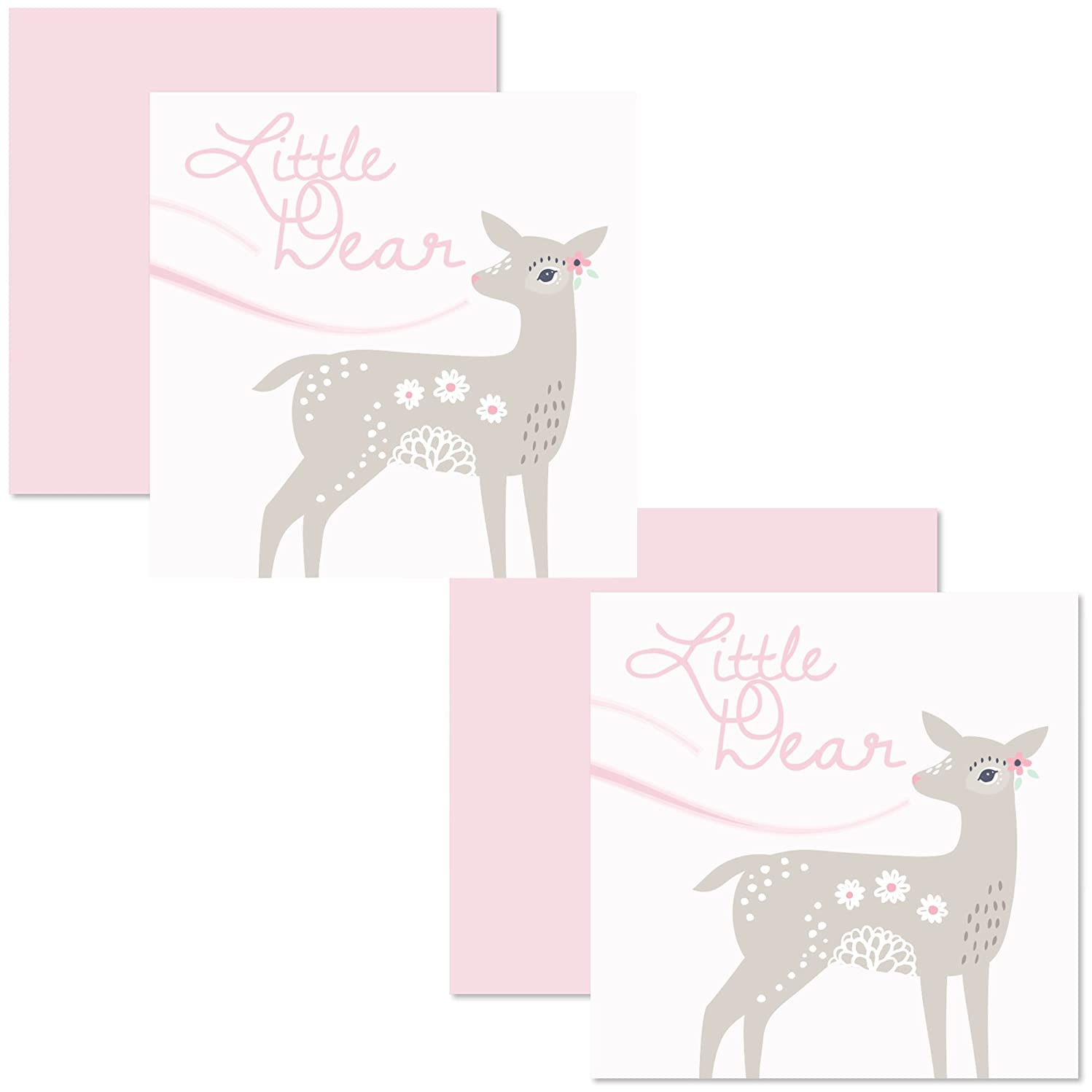 C.R. Gibson Little Dear 2 Piece Gift Enclosure Cards for Babies and Newborns