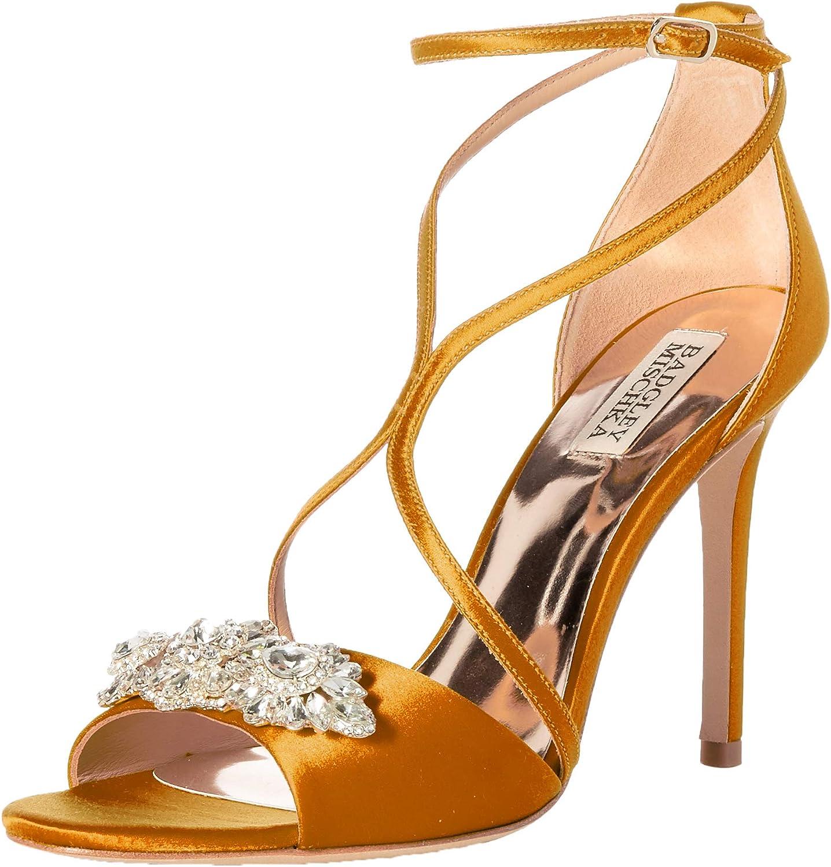 Badgley Mischka Woherren Vanessa Heeled Sandal, Gold Gold Satin, 5 M US  Marke