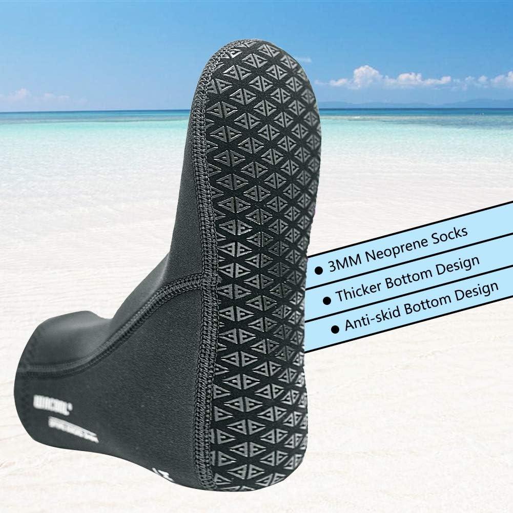 Dwave WACOOL 3mm Neoprene Beach Aqua Yoga Socks for Sand Playing, Scuba Diving, Snorkeling, Swimming & All Water Sports