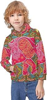 Kid's Novelty Sweater Striped Flower Leopard Print Pullover Hoody Sweatshirt Teen's Breathable Sports Hoodies-
