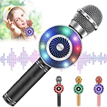 Toys for 3-16 Years Old Girls,Wireless Kids Karaoke Microphone Best Birthday Gifts for 4-12 Years Old Boy Girl,Popular Present for Girls Age 5-15 Black