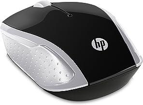 HP - Ratón Inalámbrico HP 200 con Perfil Redondeado, Color Plateado