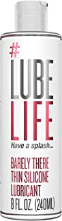 #Lubelife Thin Silicone Based Long Lasting Lubricant, 8 Oz Intimate Lube for Sensitive Skin - for Men, Women and Couples (...