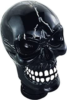 Lunsom Skull Shifter Head Knob Resin Car Transmission Shift Stick Handle Shifting Head Fit Universal Automatic Manual Vehicle (Black)