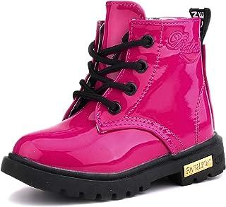 أحذية طويلة للأطفال من LONSOEN للأولاد والبنات مقاومة للماء برباط وسحّاب