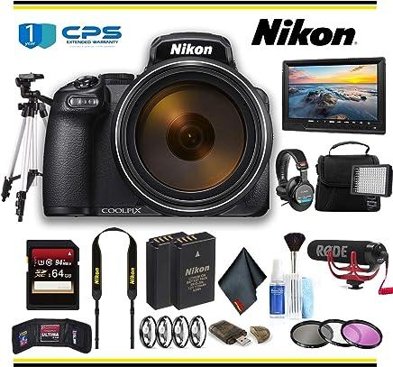 $1153 Get Nikon COOLPIX P1000 Digital Camera (26522) Professional Bundle W/Bag, Extra Battery, LED Light, Mic, Filters, Tripod, Monitor and More - (International Model)