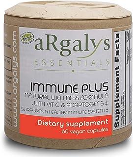 aRgalys Essentials Immune Plus - Vegan, Non-GMO, Gluten Free, Powerful Immune System Booster Supplement for Adults with Vi...