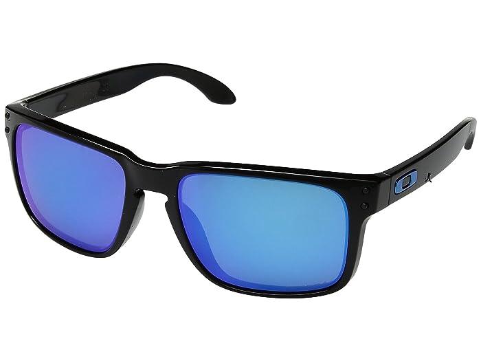 Oakley Holbrook (Polished Black w/ Prizm Sapphire) Sport Sunglasses