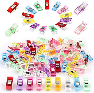 100 Pcs Multipurpose Plastic Sewing Clips,Perfect for Quilting and Crafts,Paper Work and Hanging Little Things,Assorted Color