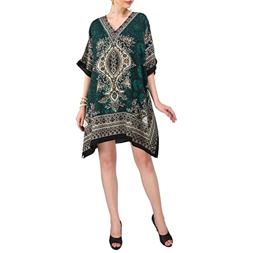 d41af4dba2d8f Miss Lavish Women s Kaftan Tunic Kimono Dress Summer Evening Plus Size  Beach Cover up 10-