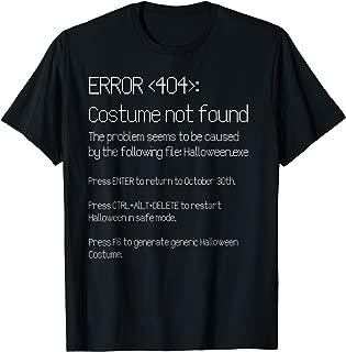 ERROR 404: COSTUME NOT FOUND - Easy DIY Costume T-Shirt