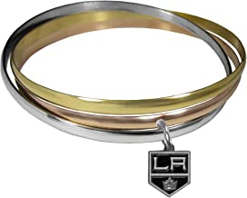NHL Los Angeles Kings Womens Tri-color Bangle Bracelet