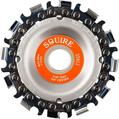"""lowest King outlet online sale Arthur's Tools Patented Squire 12 Tooth Circular Saw Blade Carving Disc for Woodworking, new arrival Removal, Cutting, and Shaping - 5/8"""" Bore, Fits Most Standard 4 1/2"""", 115-125mm Angle Grinders #35812 online"""