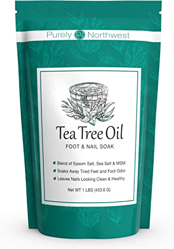 Tea Tree Oil Foot Soak with Epsom Salt - Made in USA, Alleviate Toenail Fungus, Athlete's Foot and Stinky Foot Odors....