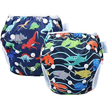 fully adjustable UK Stock Reusable baby swimming cloth nappy best on
