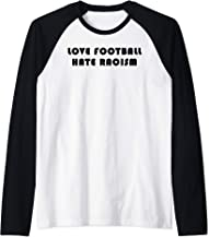 Love Football - Hate Racism Raglan Baseball Tee