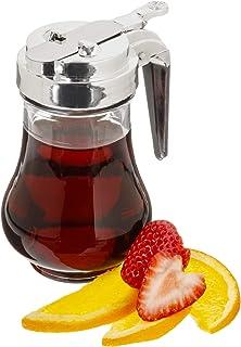 Syrup Dispenser, 6.75oz (200mL) - Glass Bottle No-Drip Pourers for Maple Syrup, Salad Dressings, Honey, Sugar, Oils, Sauce...