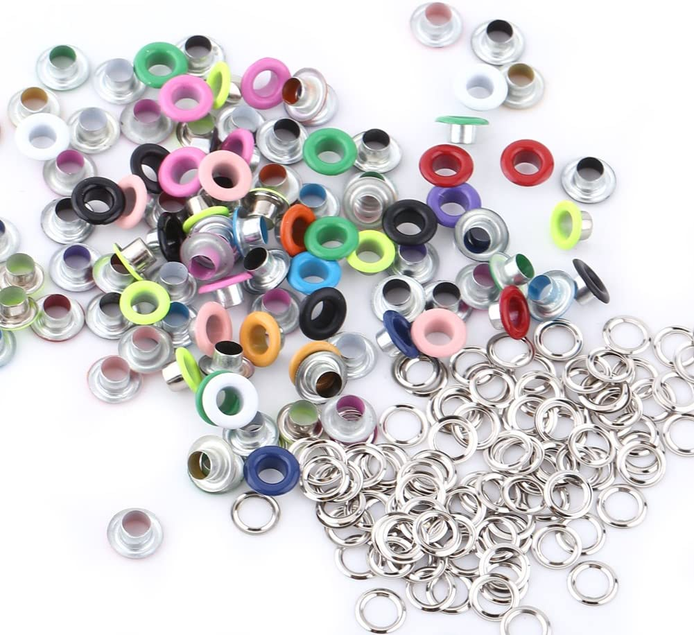 ZJchao Eyelet Max 55% Ranking TOP20 OFF Grommets 100 Sets Colorful DIY Round Was