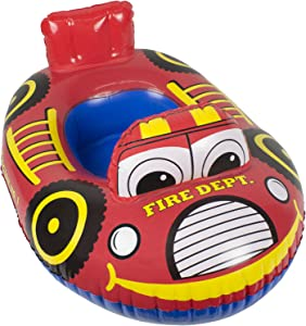 Poolmaster Learn-to-Swim Baby Swimming Pool Float Rider, Fire Engine