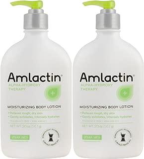 2 pack AmLactin 12 % Moisturizing Lotion - 567 g / 20 oz