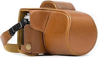 MegaGear MG637 Olympus OM-D E-M10 Mark II (14-42mm) Deri Kamera Çantas, Açık Kahve