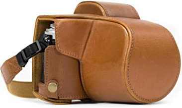 MegaGear MG369 Olympus OM-D E-M10 Mark II, E-M10 (14-42mm) Ever Ready Leather Camera Case and Strap - Light Brown