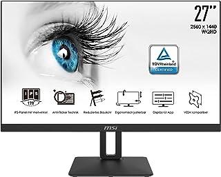 MSI PRO MP271QPDE - 68,6 cm (27 Zoll), LED, IPS-Panel, WQHD, Höhenverstellung, Pivot, DisplayPort, HDMI