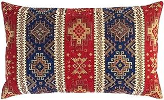 pillowerus Tapestry Kilim Ethnic Pattern Red-Blue 12
