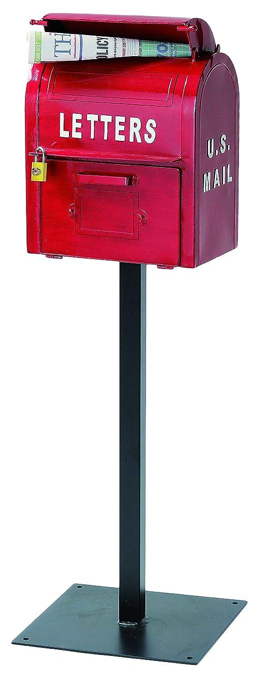 登場強化する旅セトラクト郵便ポストアメリカンヴィンテージ U.S.MAIL BOX(レッド)SI-2855-RD