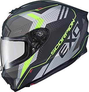 Scorpion EXO-R420 Helmet - Seismic (X-Large) (Matte HI-VIS/Dark Grey)
