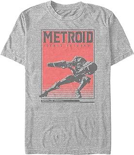 Nintendo Men's Metroid Samus Returns Poster T-Shirt
